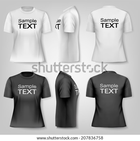 female t shirts with sample