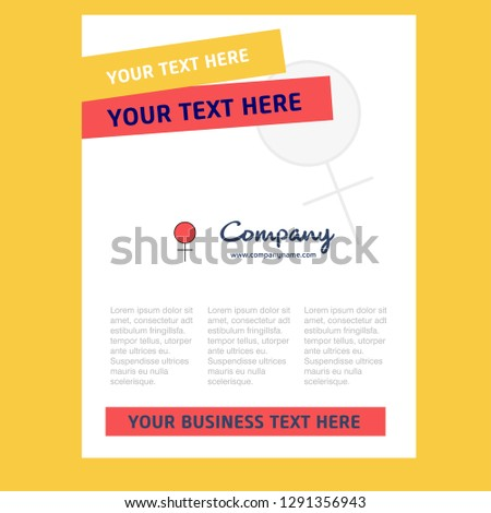Female Title Page Design for Company profile ,annual report, presentations, leaflet, Brochure Vector Background