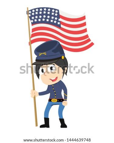 female troop vector illustration design
