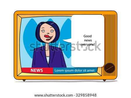 female tv host reports good