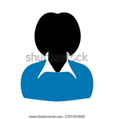 female user icon-girl icon-businesswoman sign-human illustration-community vector