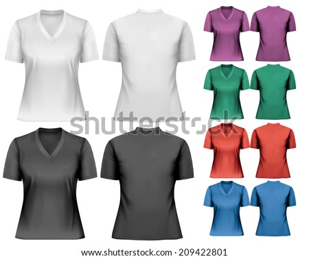 female v neck t shirts design
