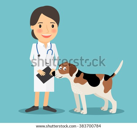 female veterinarian doctor with
