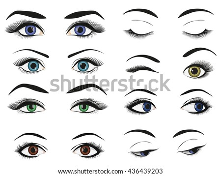 female woman eyes and brows
