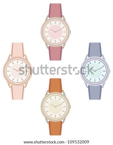 Female wristwatch. vector