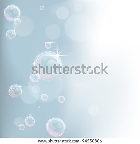 Feminine background illustration in pastel tones with bubbles