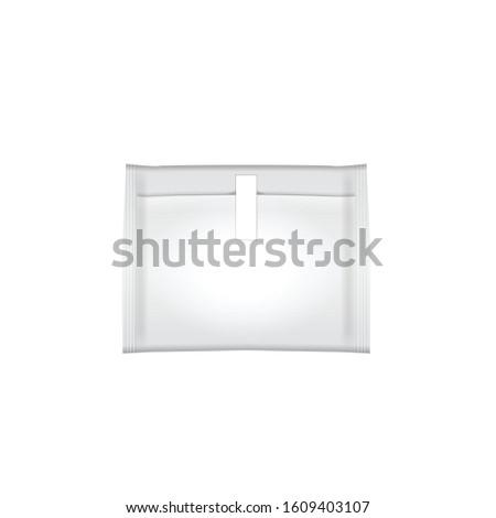 Feminine hygiene pad mock up. Packaging hygienic sanitary napkin, on a white background. Menstruation days. Illustration for your design