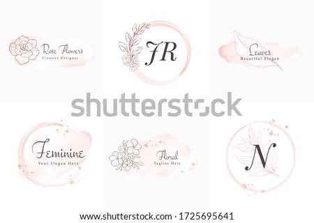 feminine logos collection  hand