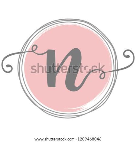 Feminine N Logo Template Design