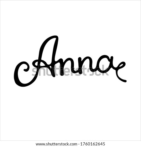 feminine name anna black and