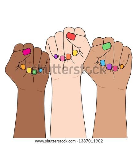 feminism symbol fighting fist