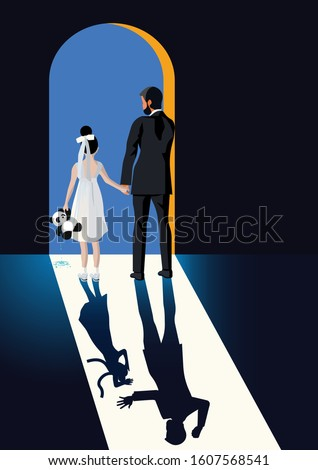 Feminism - Violence Against Women - Domestic Violence - Women Rights - Child Marriage ストックフォト ©