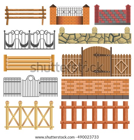 Chinese Fence Design Iconswebsite icons website search icons icon set web icons fence set of different fence design wooden metal stone barriers vector fences workwithnaturefo