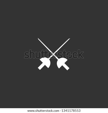 fencing icon vector. fencing vector graphic illustration