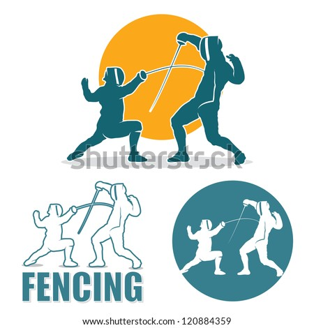 Fencing labels - vector illustration