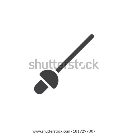 Fencing rapier vector icon. filled flat sign for mobile concept and web design. Fencing sword glyph icon. Symbol, logo illustration. Vector graphics
