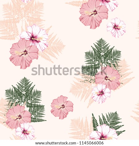 fern tropical leaves and