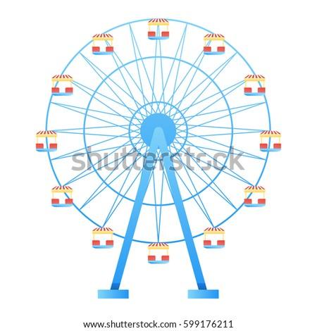 ferris wheel fun park in white