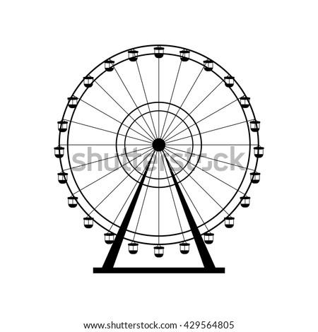 ferris wheel silhouette  circle