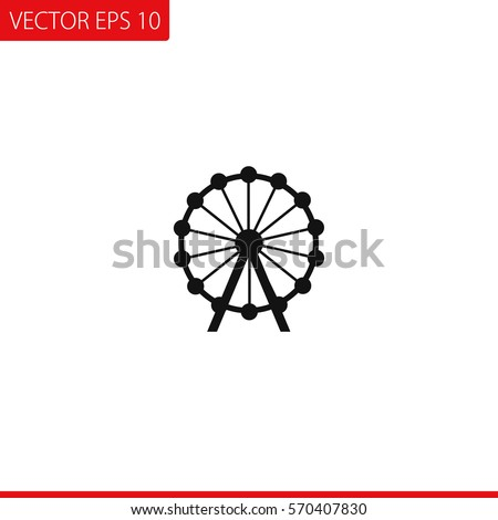 Ferris wheel Vector Icon.