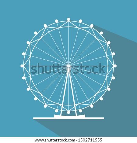 ferris wheel vector icon
