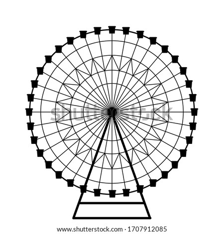 ferris wheel vector  isolated