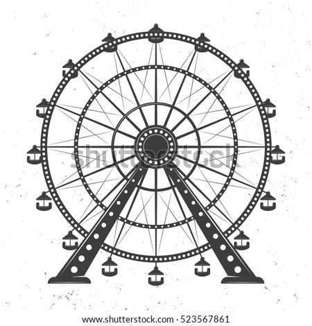 ferris wheel vector monochrome