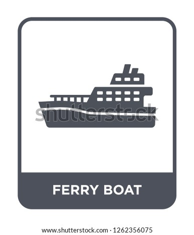 ferry boat icon vector on white background, ferry boat trendy filled icons from Transportation collection, ferry boat simple element illustration