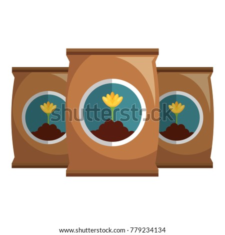 fertilizer bags isolated icon
