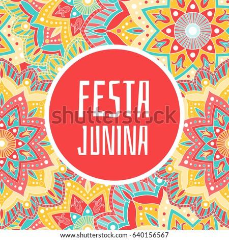 festa junina banner vector