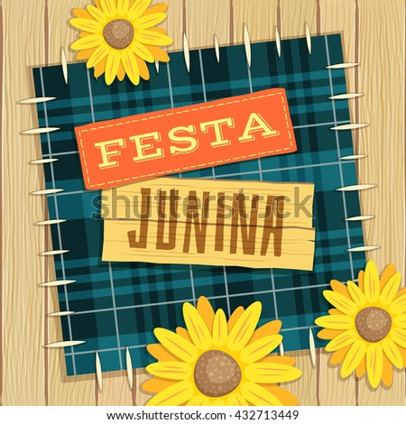 Festa Junina, brazilian june fest theme with flowers
