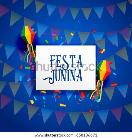 festa junina celebration background design vector #658136671
