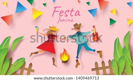 festa junina festival design on