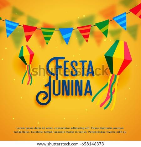 festa junina holiday background vector design #658146373