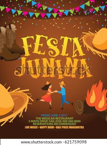 festa junina poster or