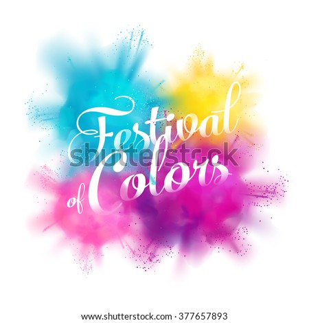 festival of colors vector