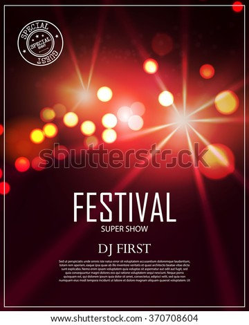 festival poster template with
