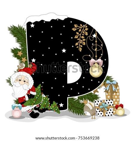 festive alphabet christmas