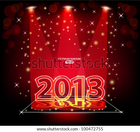 Festive background, new year 2013