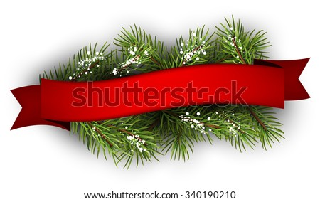 festive background with fir