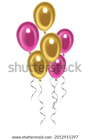 festive balloons pink and