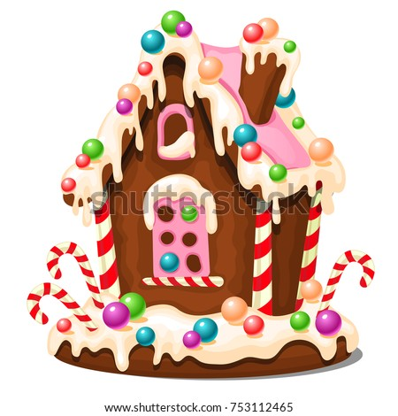 festive cake in shape of