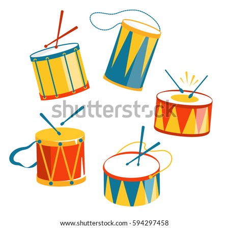 festive carnival drums isolated