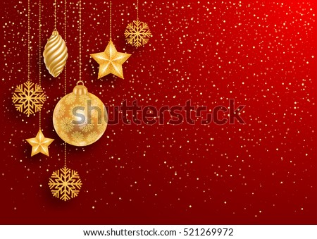 stock-vector-festive-christmas-red-background-with-golden-christmas-decorations-and-golden-glitters-vector