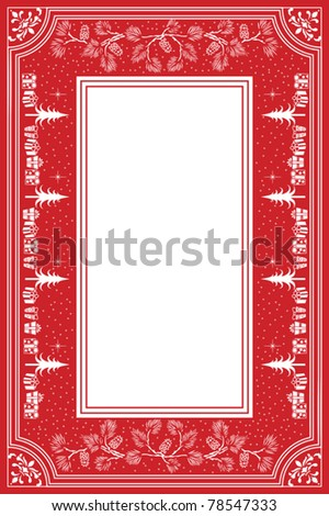 Festive Christmas Table Cloth - stock vector
