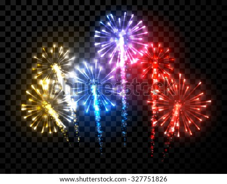 festive color firework