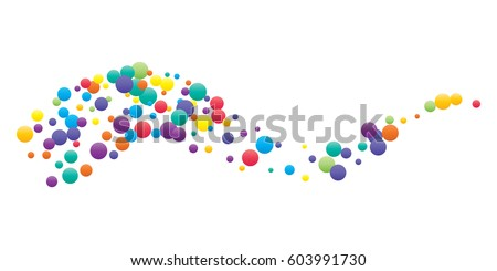 Festive colorful round confetti background. Vector illustration for decoration of holidays, postcards, posters, websites, carnivals, birthday and children's parties