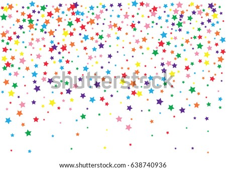 festive colorful star confetti
