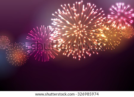 festive colour firework