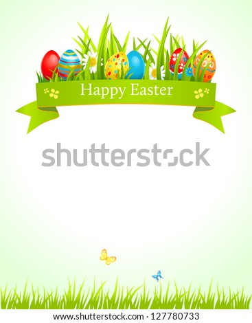 Festive Easter background with space for text